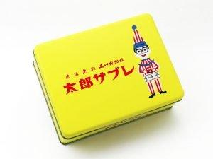 大阪名物くいだおれ太郎サブレの缶写真