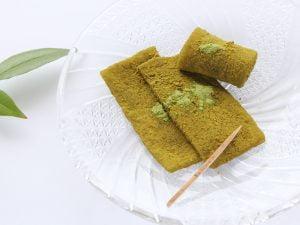 生 凍りわらび餅 宇治抹茶 中身の写真