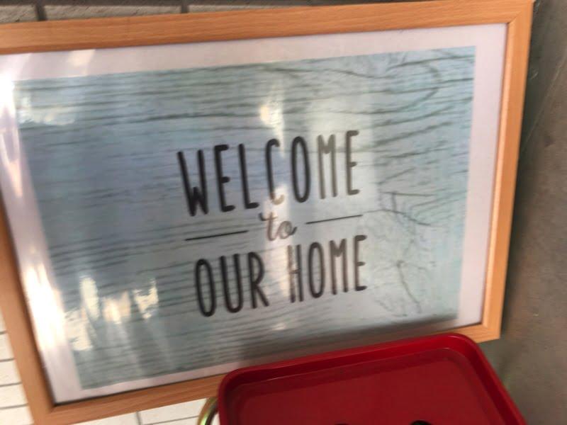 Airbnbで借りた家のウェルカムボード