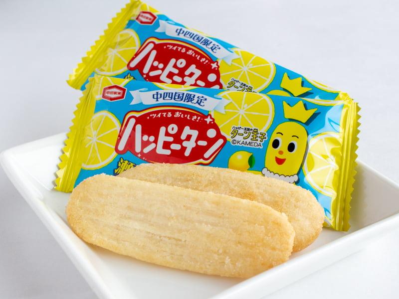 ハッピーターン瀬戸内海レモン風味 中身の写真