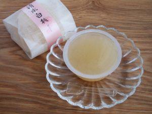 福壽堂秀信 清水白桃ゼリー 中身の写真